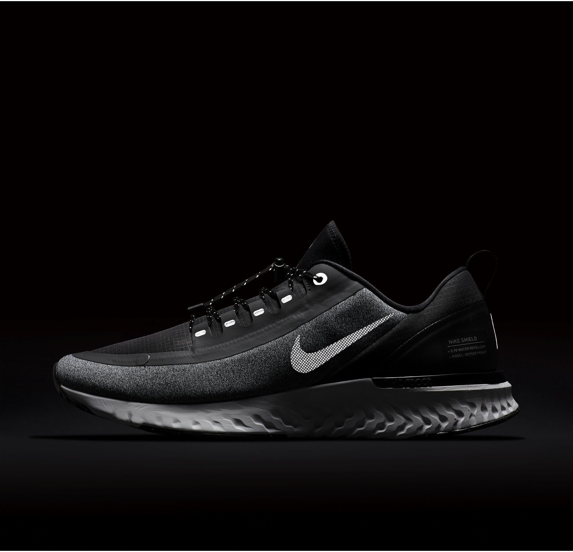 separation shoes 03dea 125fb Nike Odyssey React Shield - Zapatillas running Hombre - negro